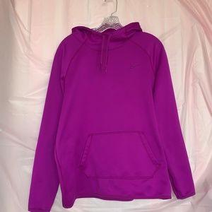 Purple dri-fit nike hoodie